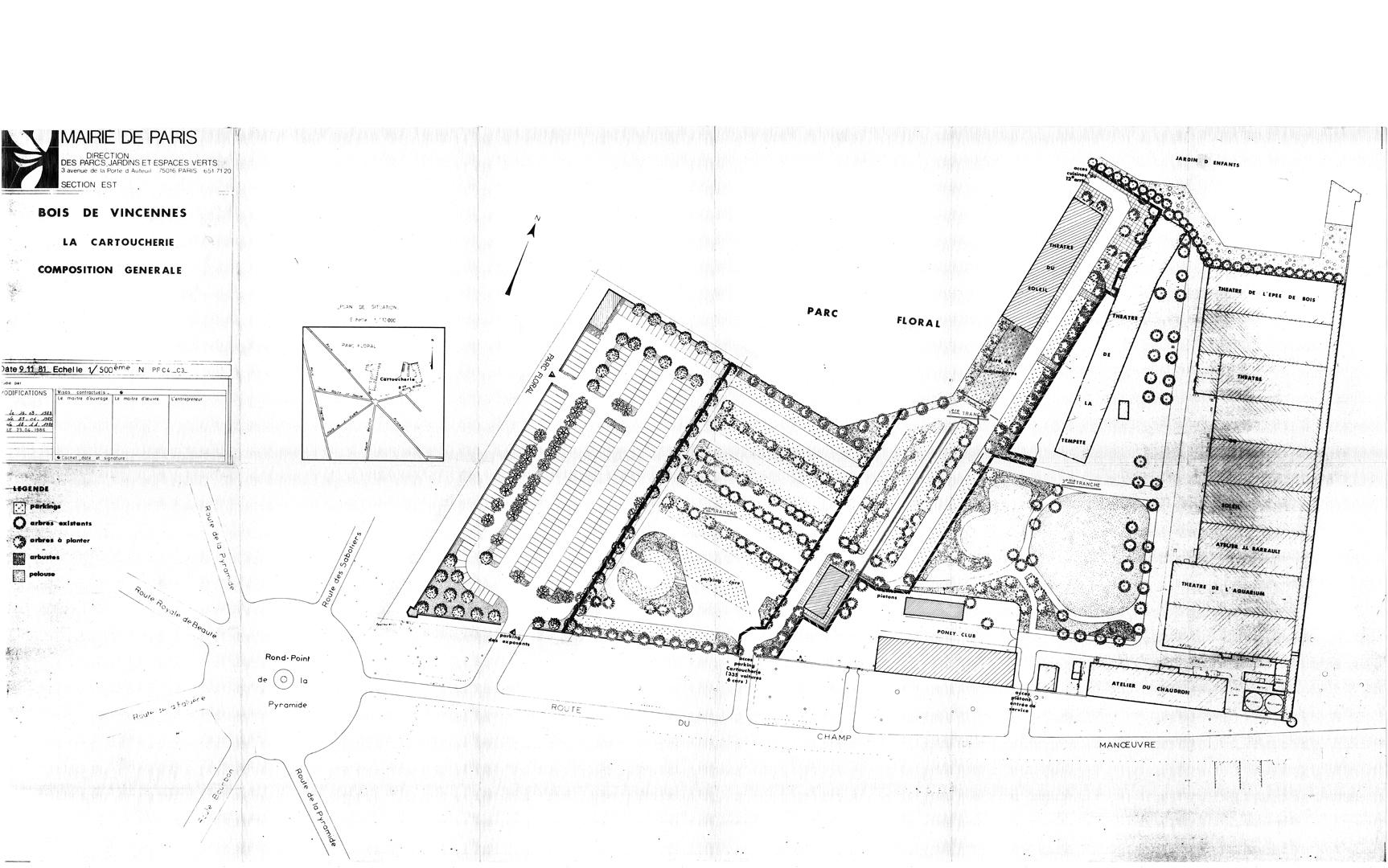 Plan Cartoucherie 1981