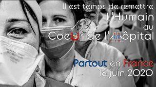 Guetteurs et tocsin Rassemblement unitaire du 16 juin 2020 pour défendre l'Hôpital Public