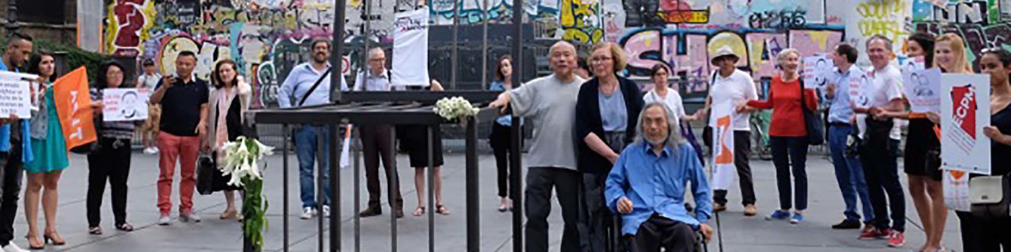 Guetteurs et tocsin  Chaise vide de la Liberté, à la mémoire de Liu Xiaobo
