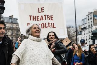 Au fil des jours Ariane Mnouchkine : la colère d'une  metteuse en scène