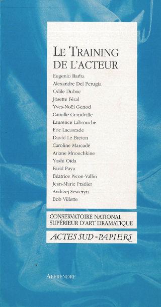 livre Le training de l'acteur 2000