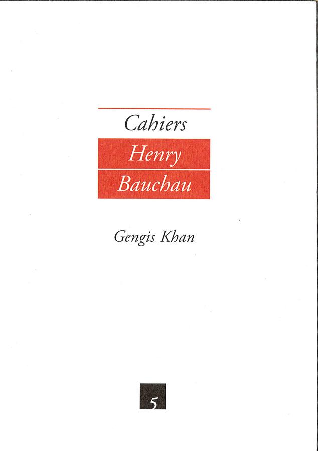 livre Cahiers Henri Bauchau n°5 en français