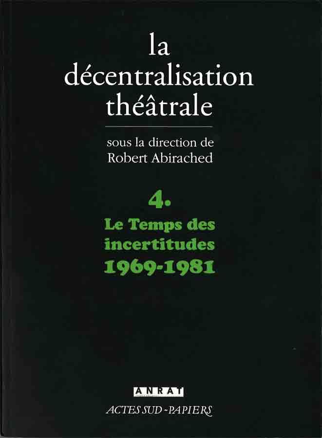 livre La décentralisation théâtrale en français