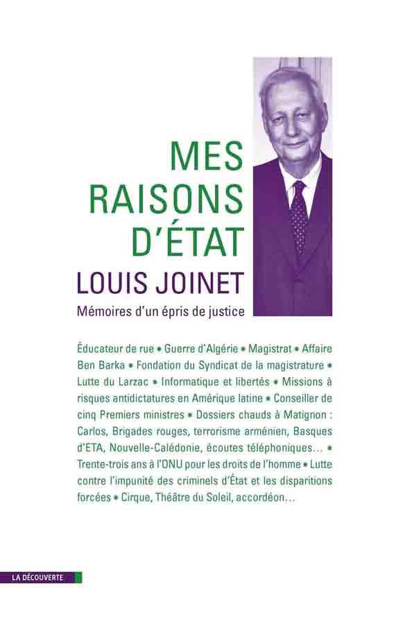 livre Mes raisons d'état  en français